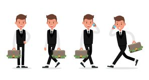 Set of Businessman character vector design. no21. Set of Businessman character vector design vector illustration