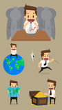 Set,Businessman Character Royalty Free Stock Photography