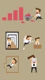 Set,Businessman Character Stock Photos