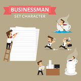 Set,Businessman Character Stock Images
