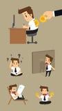 Set,Businessman Character.vector.illustration Stock Images