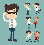 Set of businessman characters poses Stock Images