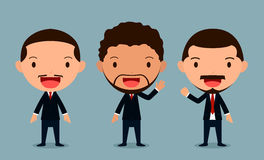 Set of businessman characters poses , office worker, form. At group 3. eps10 Illustration vector illustration