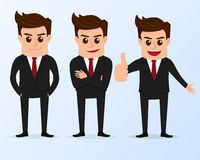 Set of businessman characters poses. Stock Image