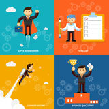 Set of businessman characters Royalty Free Stock Image