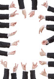 Set of businessman hand gesture Royalty Free Stock Image