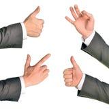 Set of businessman hands Stock Images