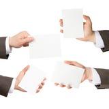 Set of businessman hands Royalty Free Stock Photos