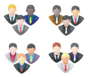 Set of businessman icon in group Royalty Free Stock Photo