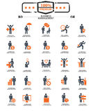 Set of Businessman icons,Orange version Royalty Free Stock Image