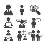 Set of businessman. People group icon isolated vector illustration