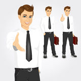 Set of businessmen with briefcases Stock Images