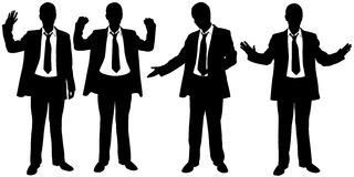 Set of businessmen with hand gestures Royalty Free Stock Photos