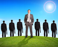 Set of businessmen and nature Royalty Free Stock Photography