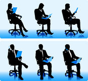 Businessmen silhouettes  Stock Photography