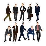 Set of Businessmen in Suits Stock Photography