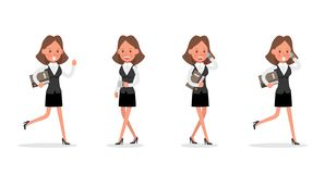 Set of Businesswoman character vector design. no20. Set of Businesswoman character vector design vector illustration