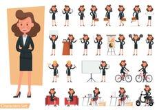 Set of Businesswoman character vector design. no16. Set of Businesswoman character vector design royalty free illustration