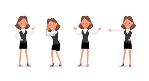 Set of Businesswoman character vector design. no19. Set of Businesswoman character vector design vector illustration