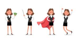 Set of Businesswoman character vector design. no22. Set of Businesswoman character vector design stock illustration