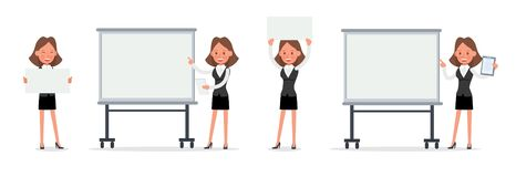 Set of Businesswoman character vector design. no21. Set of Businesswoman character vector design royalty free illustration