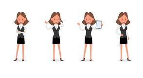 Set of Businesswoman character vector design. no17. Set of Businesswoman character vector design royalty free illustration