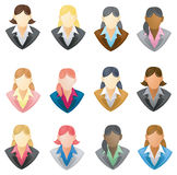 Set of businesswoman icon in FULL VECTOR style Royalty Free Stock Images