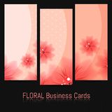Set of Bussines Cards with Floral Pattern Royalty Free Stock Photos