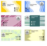 Set of bussines cards in grunge style Stock Image
