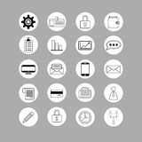 Set of bussines icons. Set of black and white bussines icons Royalty Free Stock Photography