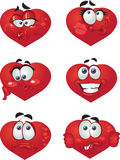 Set of Heart smiles stock photography