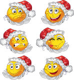 Set of New year smiles royalty free stock image
