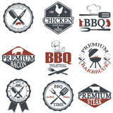 Set of butcher shop labels Royalty Free Stock Image