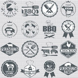 Set of butcher shop labels Stock Photo
