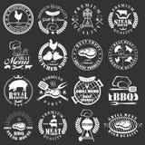 Set of butcher shop labels Stock Photo