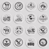 Set of butcher shop labels Stock Photos