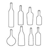 Set butelek ikony Fotografia Royalty Free