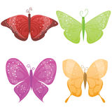 Set of butterflies. Cute set of different colorful butterflies Royalty Free Stock Image