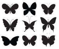 Set of butterflies Stock Image