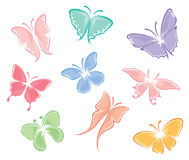 Set -- Butterflies Royalty Free Stock Image