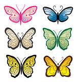 Set butterflies Royalty Free Stock Photography