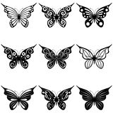 A set of butterflies Stock Photos