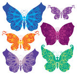Set of butterflies. Set of beautiful butterflies on background Royalty Free Stock Photo