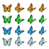 Set of butterflies Royalty Free Stock Photos