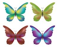 Set butterflies Stock Images