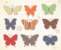 Set of butterflies for design. Stock Photos