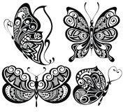 Set of butterflies Royalty Free Stock Images