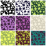 Set of butterflies pattern Stock Image