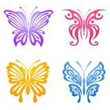 Set of butterflies for tattoo Royalty Free Stock Photos
