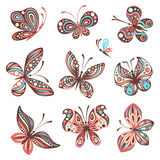 Set of butterflies Stock Image